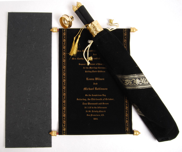scroll cards collection - Wedding Scroll Invitations